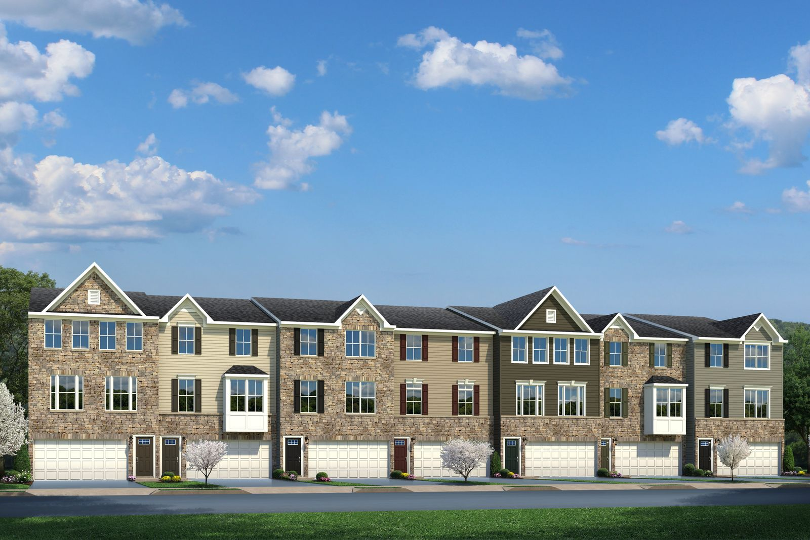 Welcome to Mountain Ridge!:Lowest-priced new townhomes in Morris County. Spacious floorplans with 2-car garages within 1 mi of shopping, dining, and Rt. 80. Niche.com A+ rated schools.Schedule an appointment today!