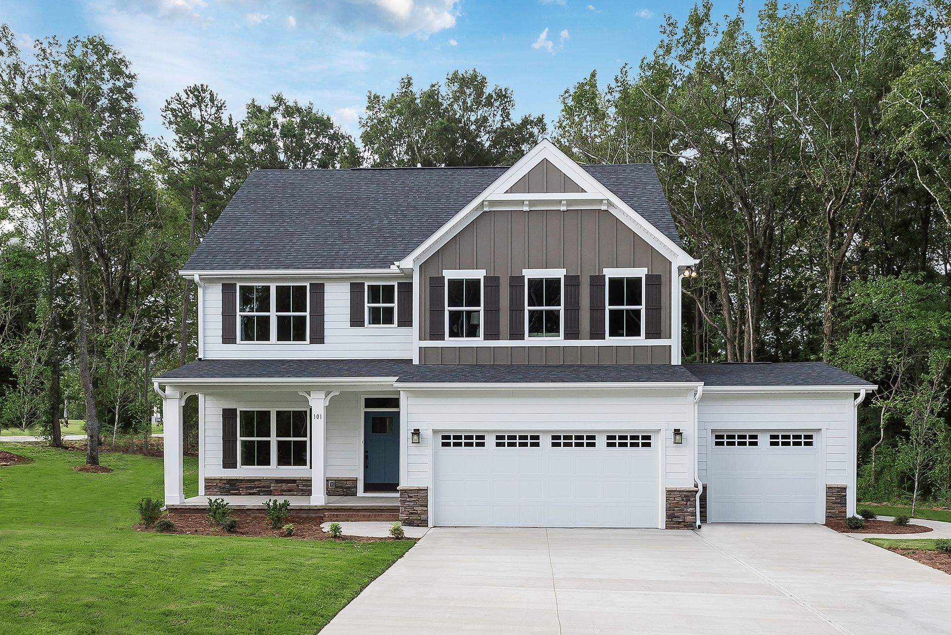 3-Car Garages Included & Wooded Homesites at Emory Trace:Westfield's newest community offers 2-story and ranch homes w included features & 3-car garages onpicturesquewooded homesties.Schedule your visit to tour our brand new Hudson model.