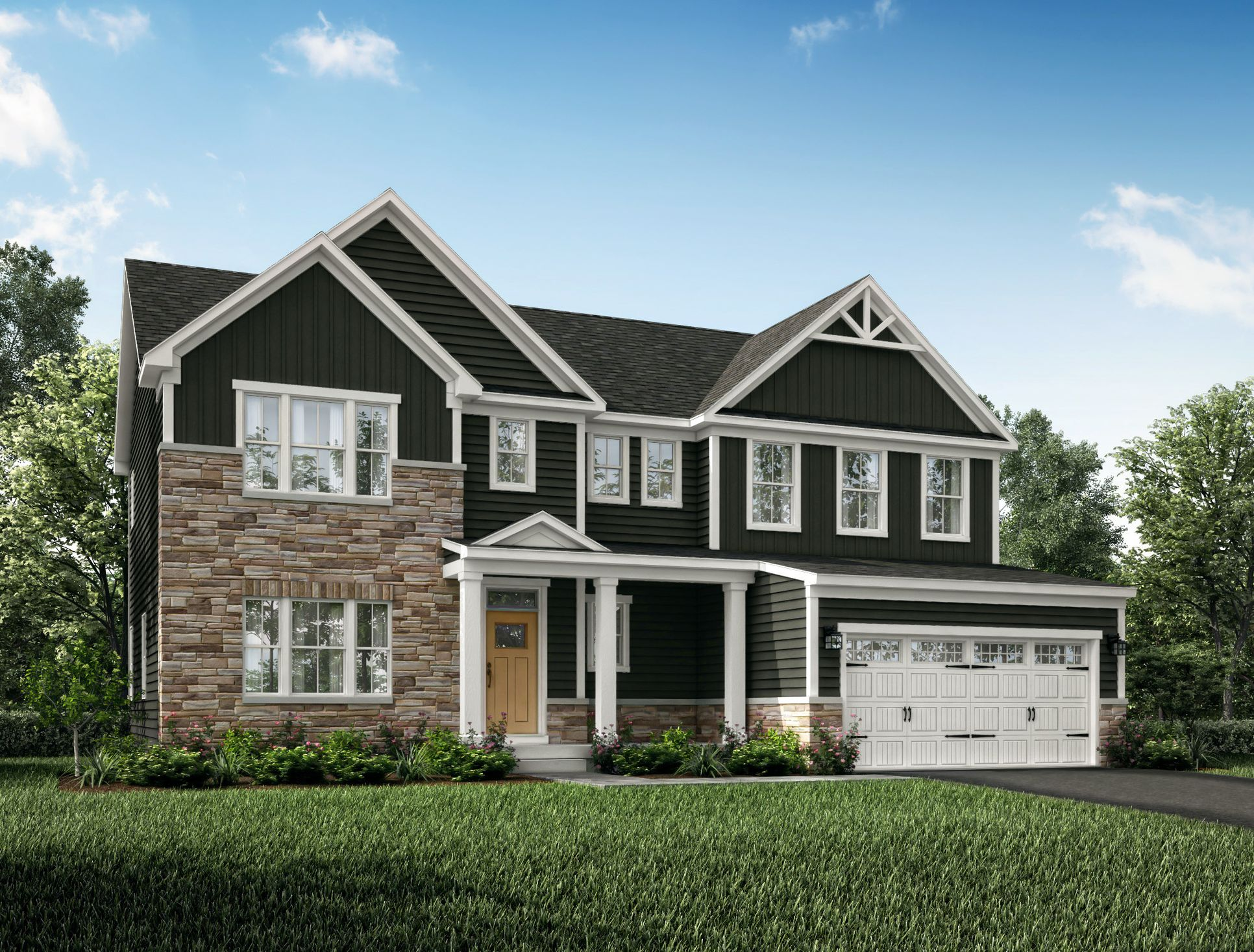 Imagine your home here:11 families have decided to buy in Hampton Pointe in 2021 alone!Schedule your visitnow and find out more about homes such as the Roanoke above!