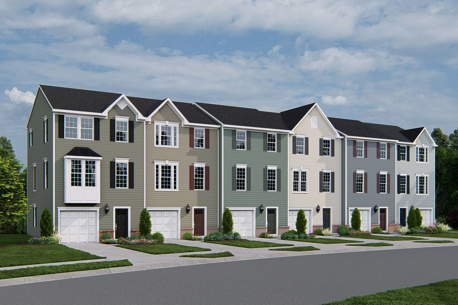 Own up to 4 bedrooms with a private yard less than 1 mile to I-540. From mid $300s:Best value for a new townhome in the area,join the VIP list!