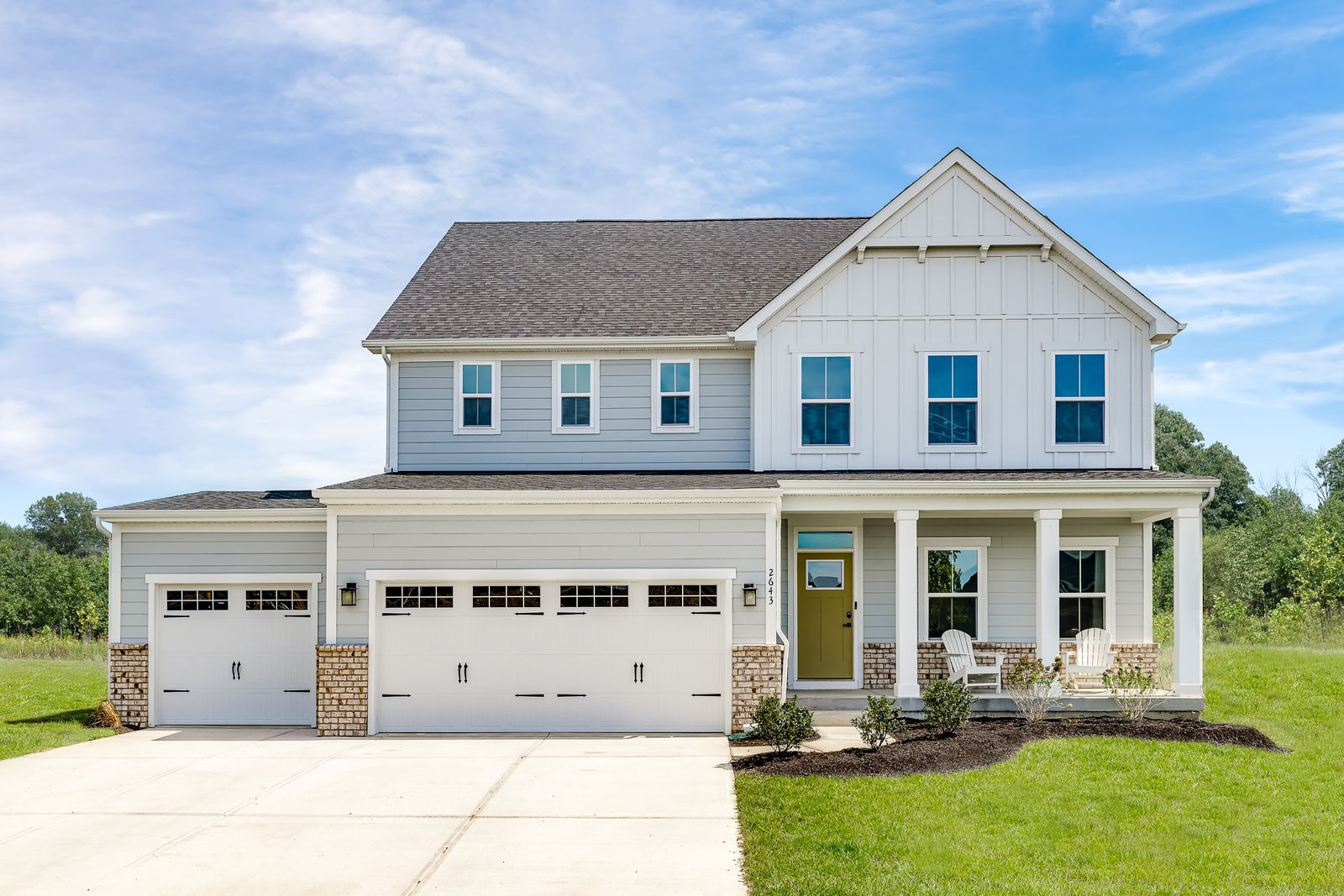 Noelting Estates: 1/2 Acre Homesites:Click here to schedule your visitto choose your homesite in our new section. Featuring wooded and tree-lined homesites with up to a ½ acre+ plus optional 3-car garages & basements!