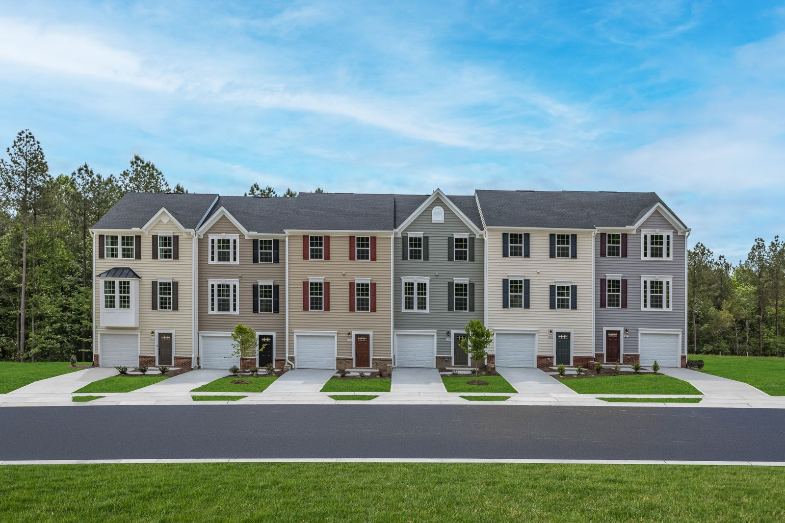 Garage townhomes with wooded homesites close to Duke, RTP & UNC.:Schedule a visit to tour the model home & get details on how you can own. No bidding or waitlist!