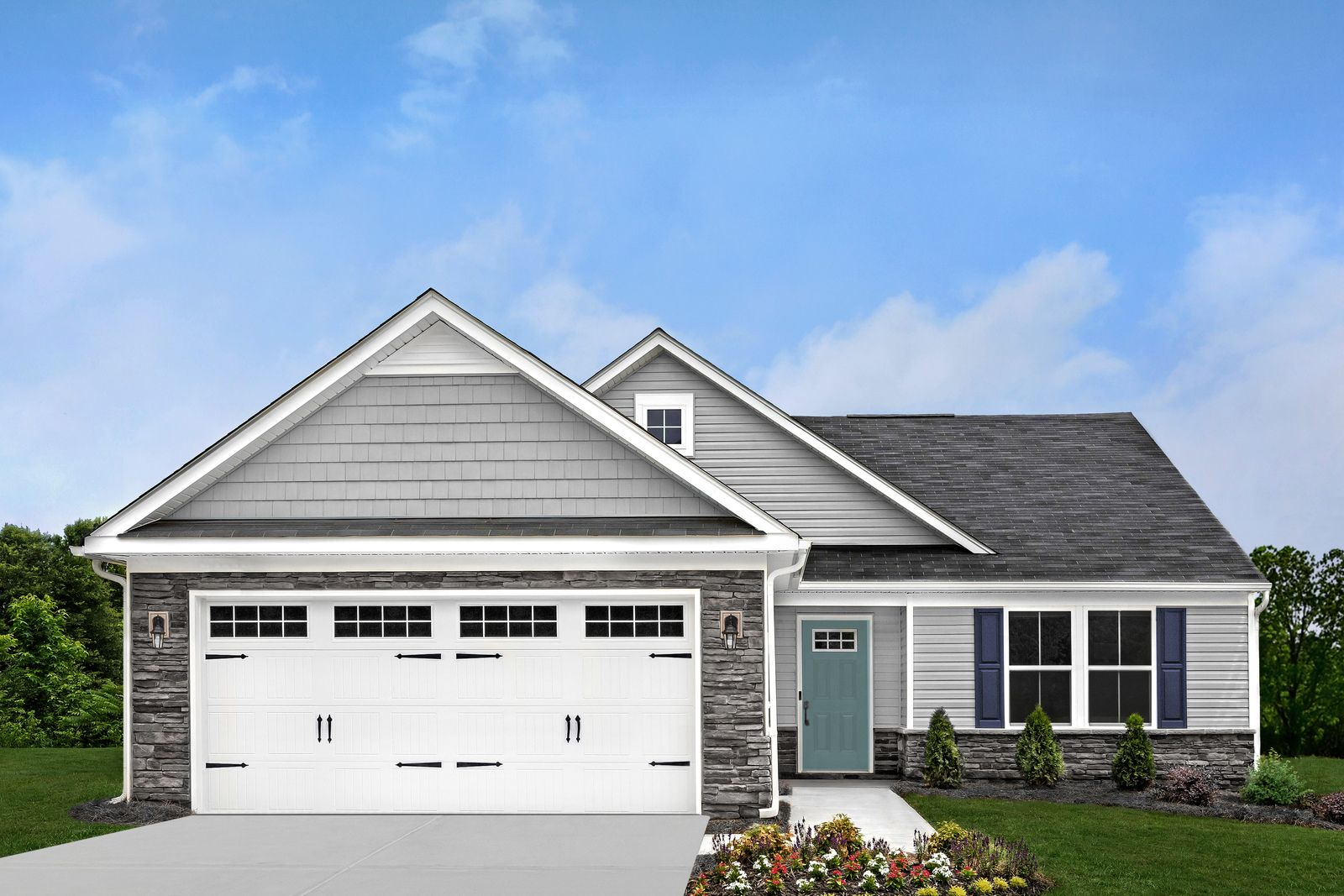 Welcome home to CARRIAGE TRAILS RANCHES!:Lowest-price new construction ranches in Tipp City near I-70 & WPAFB. Lawn care included! Tree-lined homesites with walking paths. Low taxes—from the $220s.Click to learn more about the community.