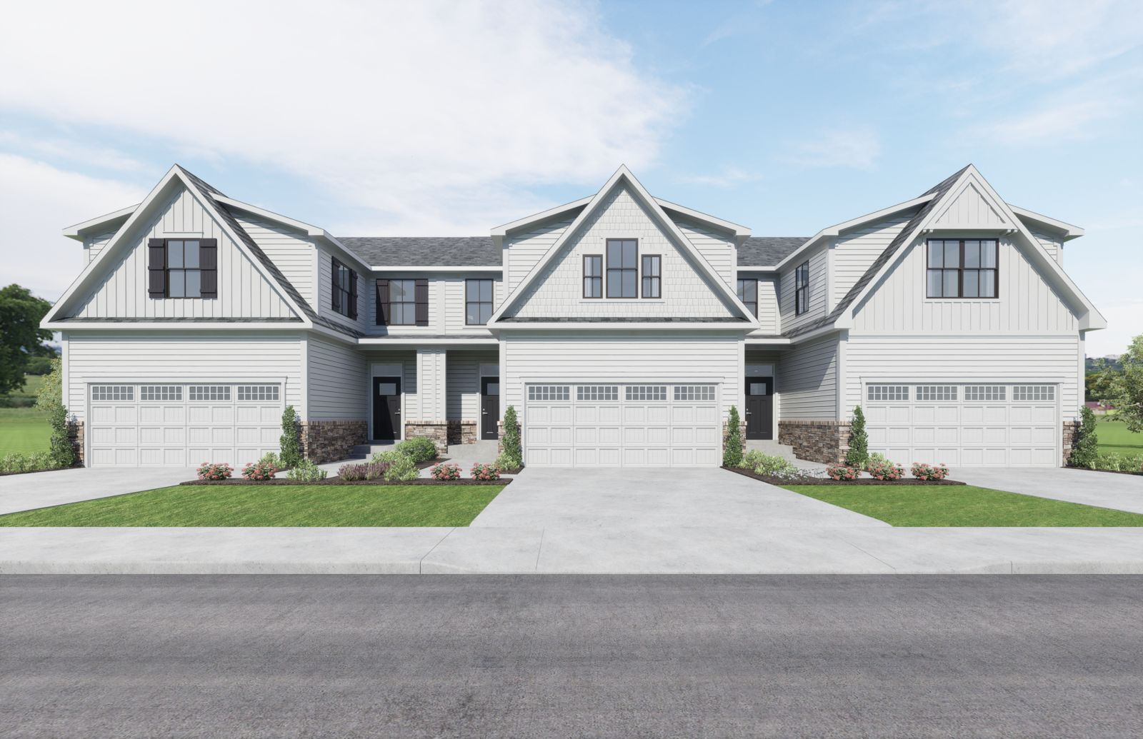 SMALL ENCLAVE OF 48 MODERN TOWNHOMES FROM MID $300's:Own a new modern farmhouse style townhome with 1st-floor owner suite and homesites that back to trees or open space—Schedule a visit to learn more!