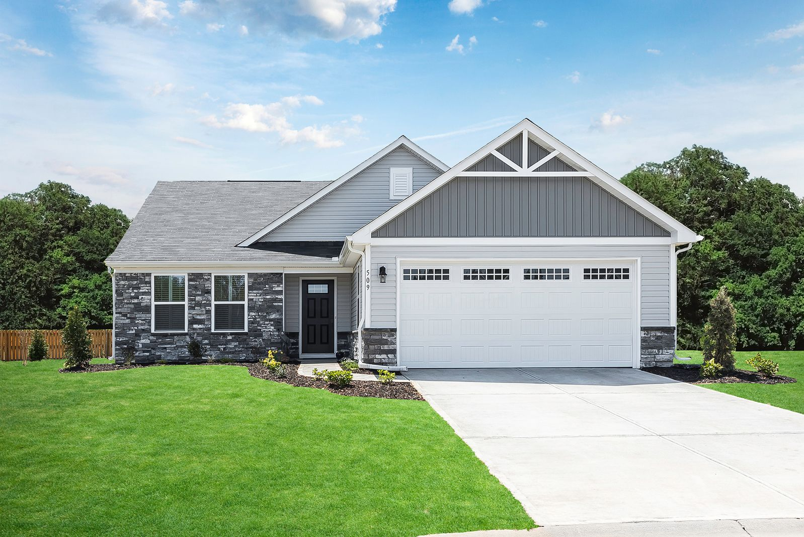 The area's lowest-priced, new ranch home community with all lawn care included.