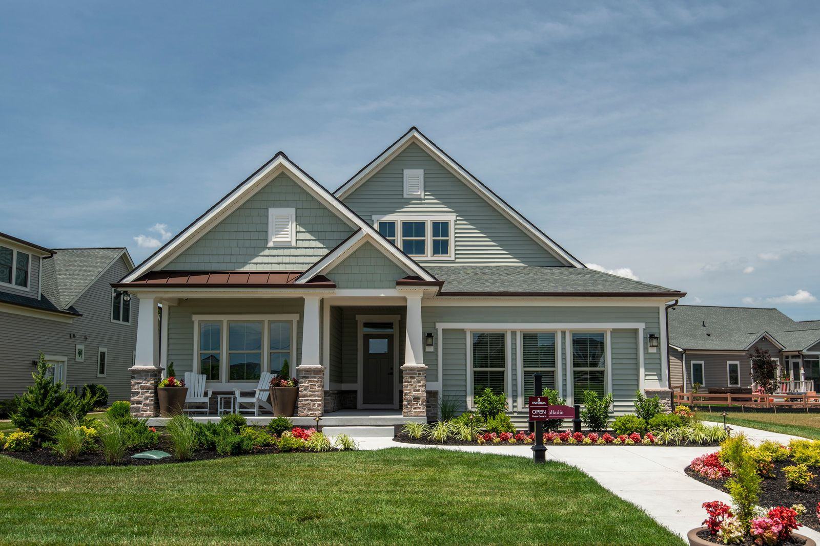 Ranches & 1st floor owner's suite floorplans at Willow Brook Farm