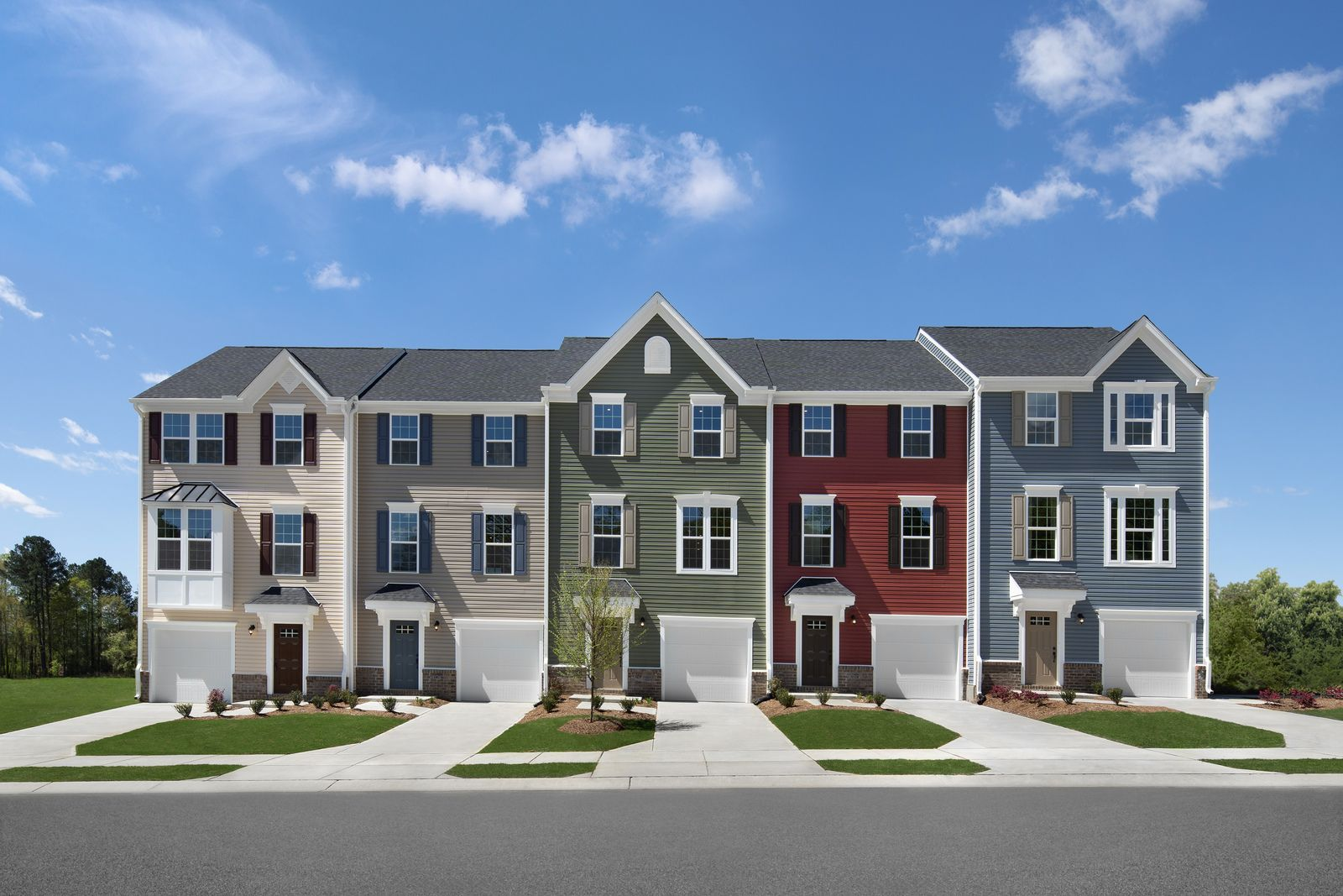 Affordable homes with private yards walkable to shopping and dining