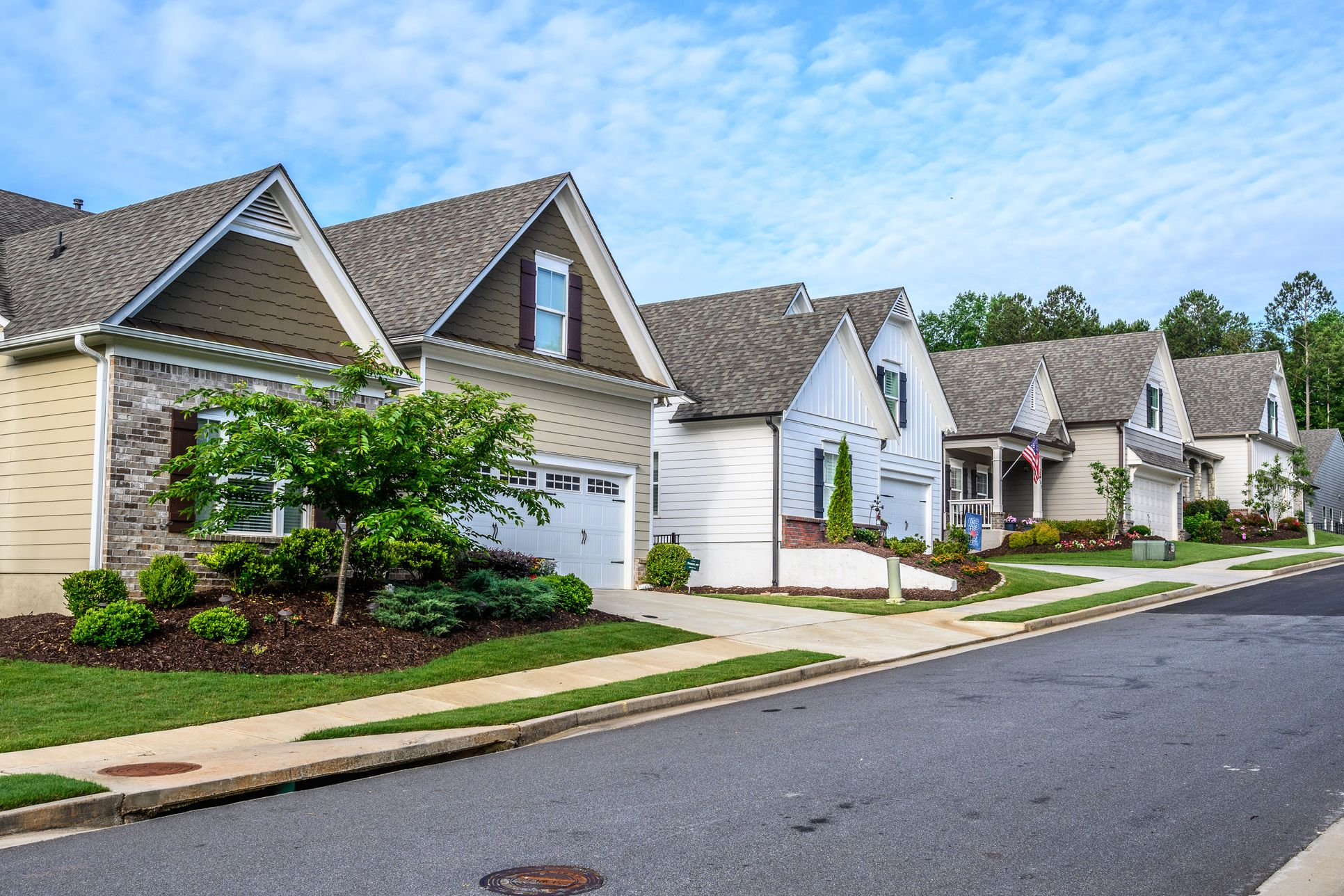 Streetscape Representation of Homes:New Construction Active Adult