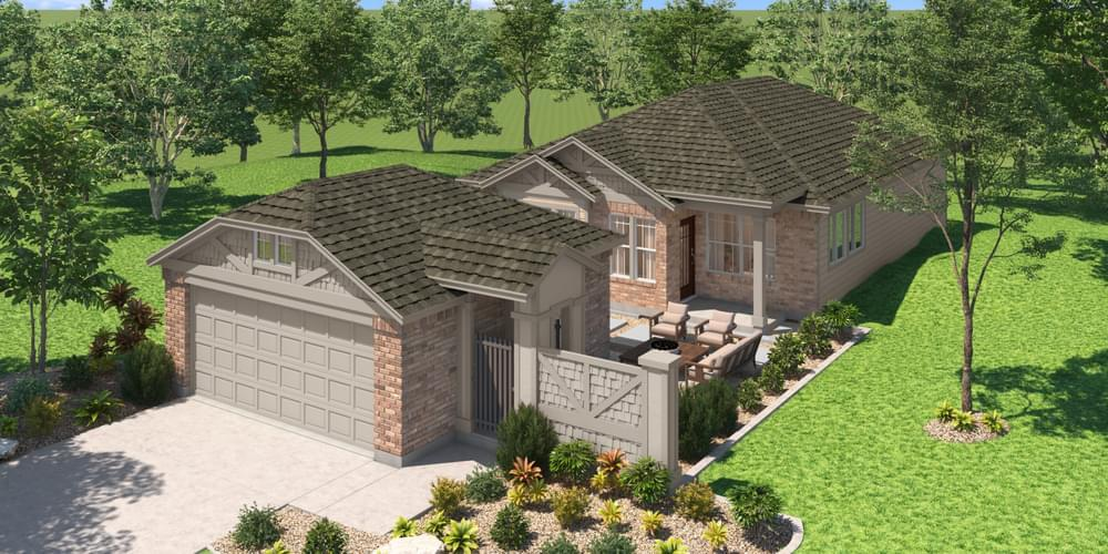 Exterior:Elevation A (with Garage B)