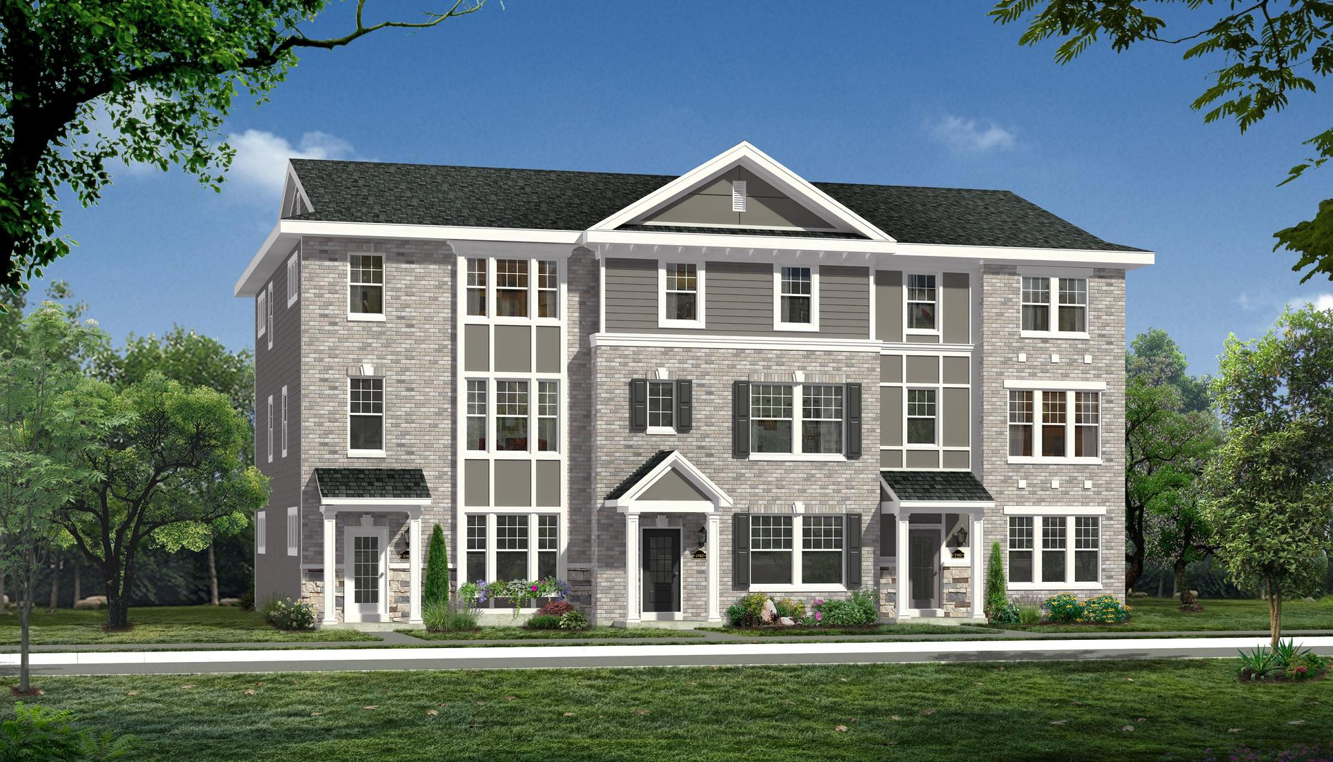 The Leighton, Uptown Townhomes by Payne Family Homes:Coming Soon to Talamore Square in Frontenac
