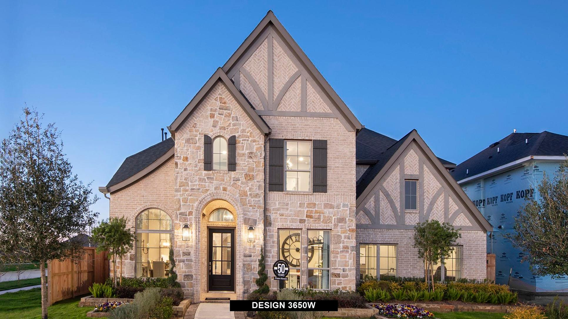 Plan 3650W:Representative photo.  Features and specifications may vary by community.