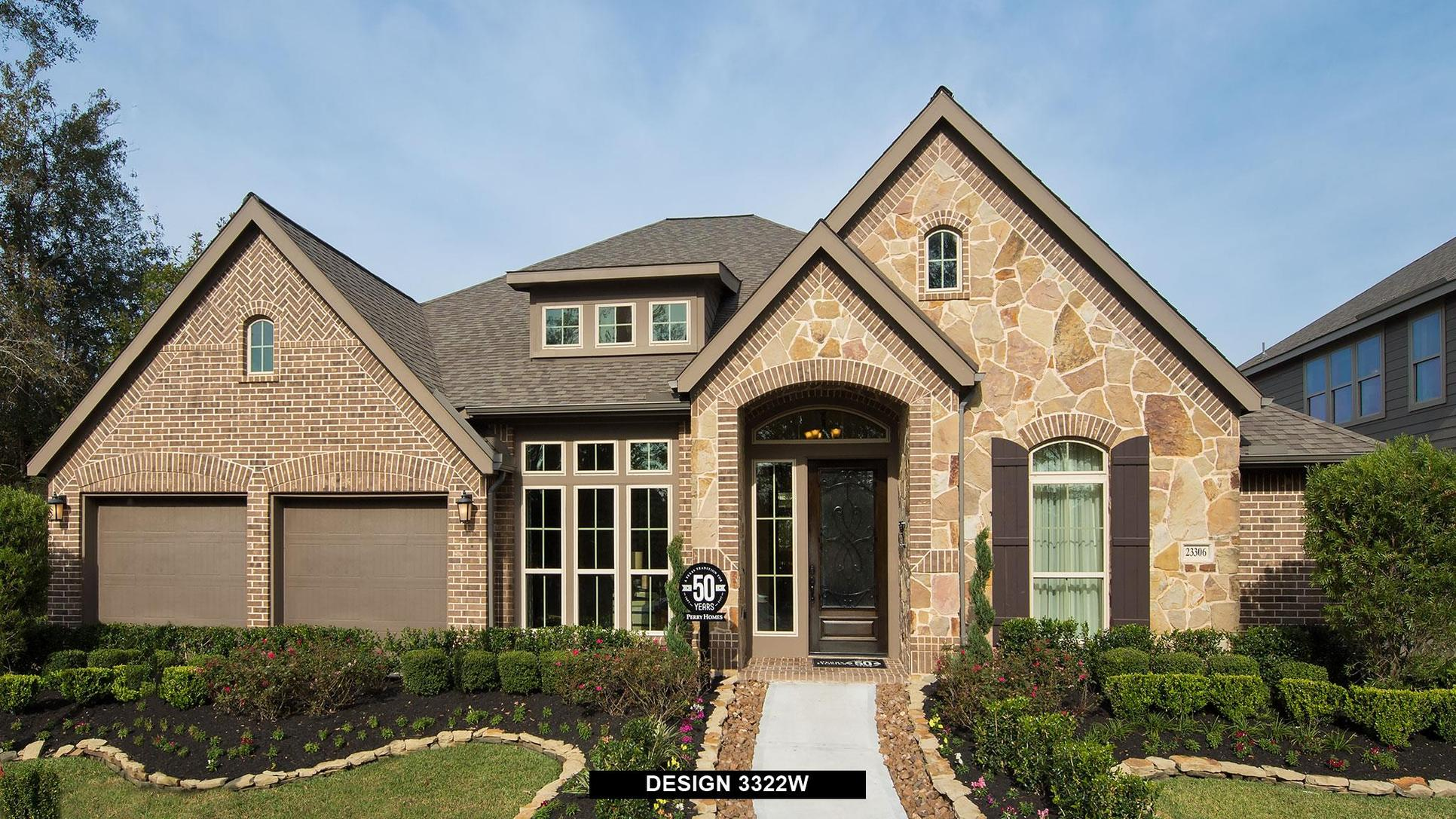 Plan 3322W:Representative photo.  Features and specifications may vary by community.