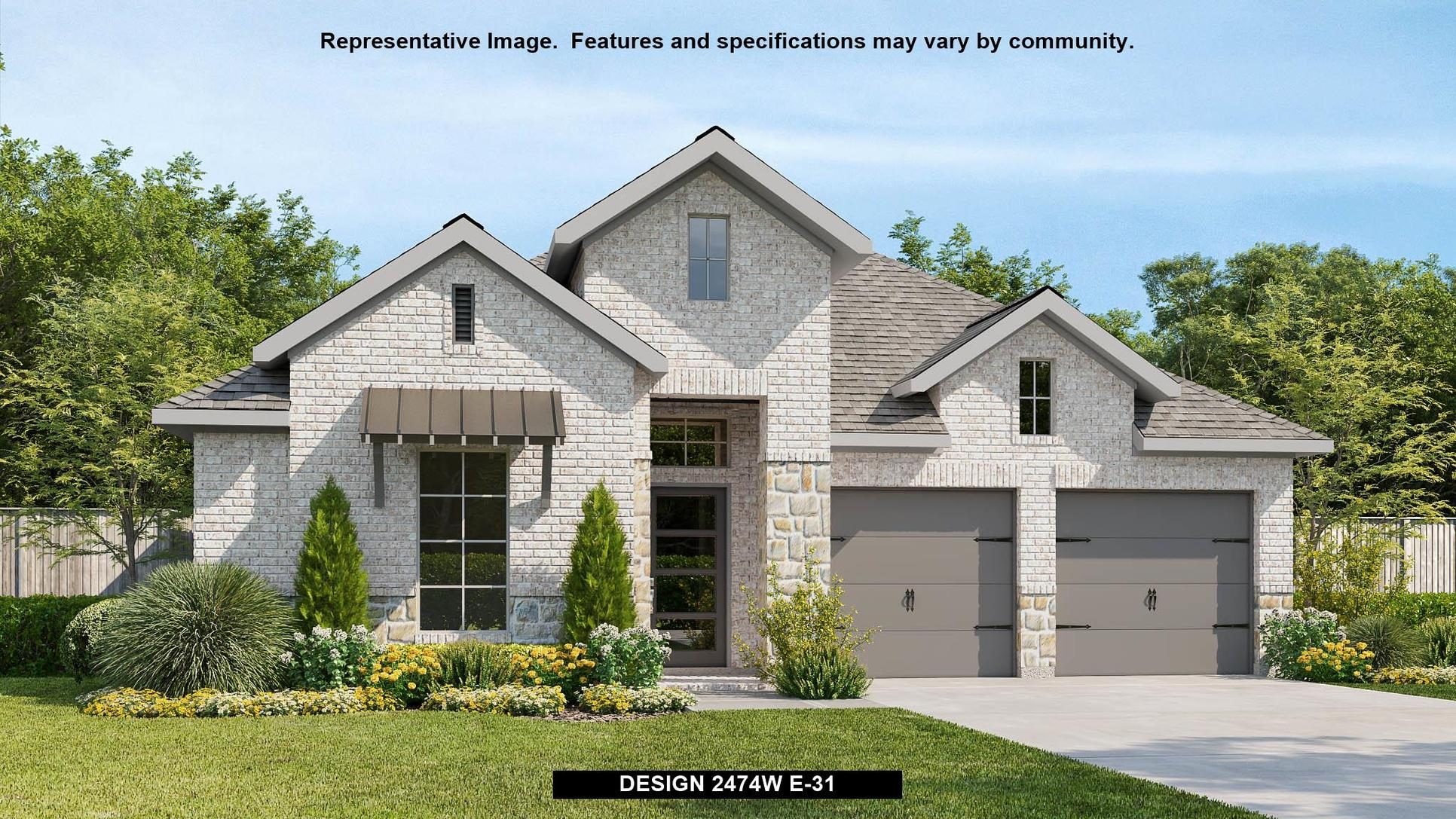 Plan 2474W:Representative photo.  Features and specifications may vary by community.