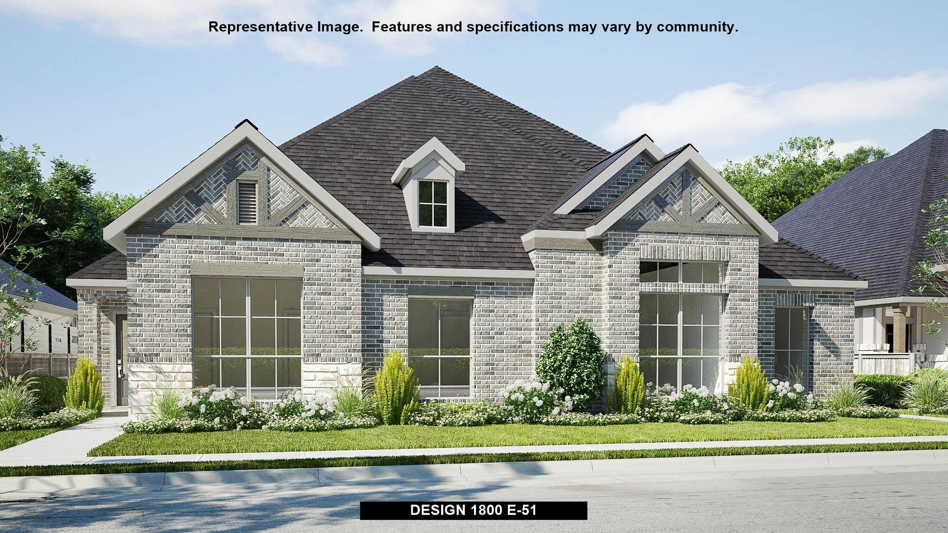 Plan 1800:Representative photo.  Features and specifications may vary by community.