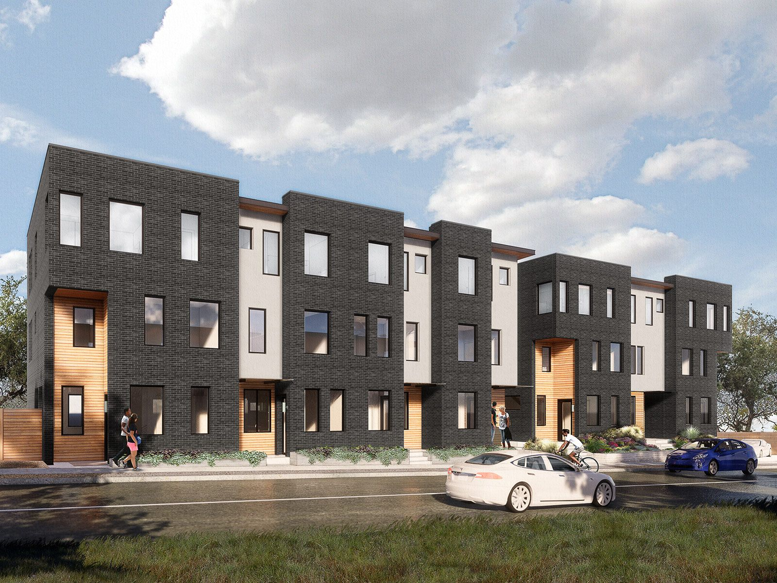 Frank. West Townhomes:Elevation