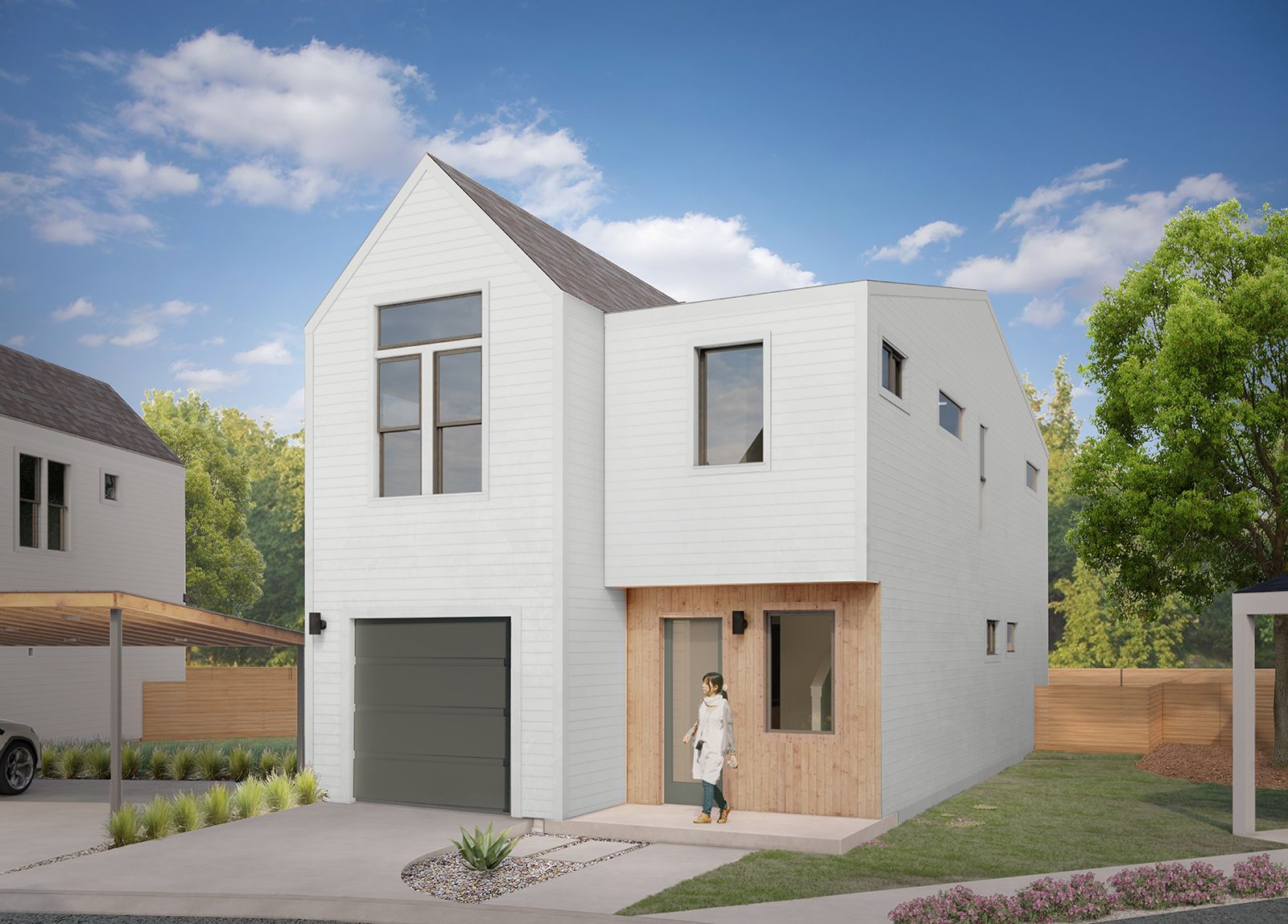 Clementine. Exterior Rendering:Plan A
