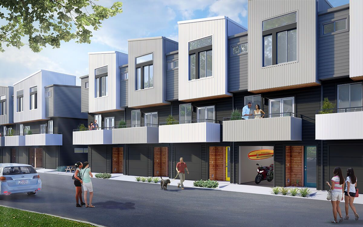 North Bluff Townhomes:Exterior Rendering