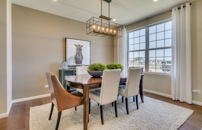 Continental:Formal Dining Room with Pass Through to Kitchen