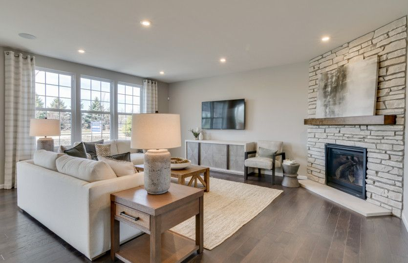 Westchester:Gathering Room with Optional Fireplace