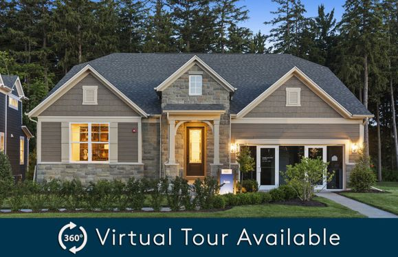 Lyon-Ranch:Ranch with Available 2nd Story (The Lyon Model Home at Dusk)