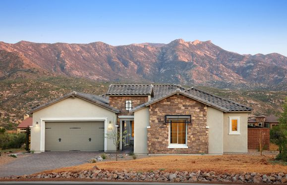 Exterior:Patagonia Model Home at Sundance Ridge in Saddlebrooke