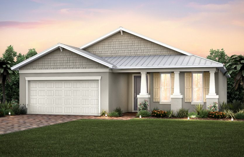 Canopy:Home Exterior C2B with optional metal roof