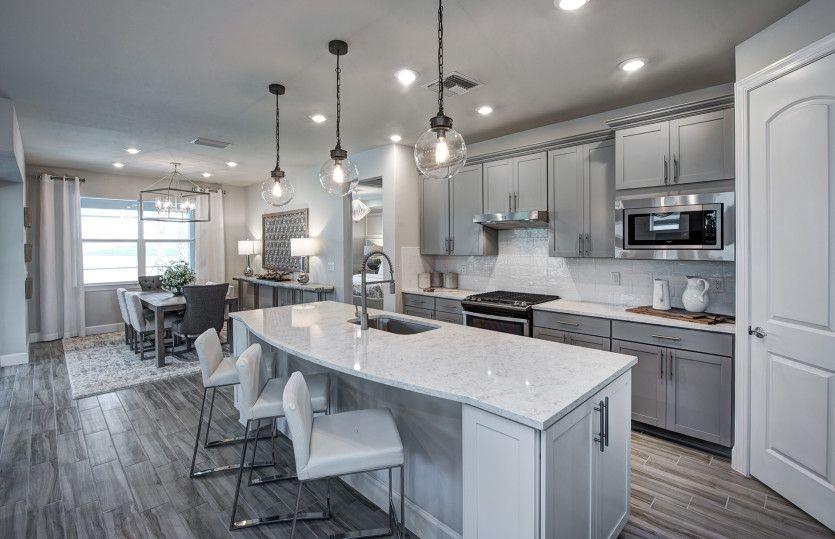 Summerwood:Gourmet Kitchen with Enlarged Center Island