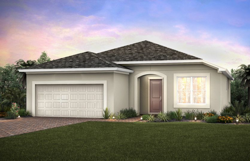 Martin Ray:Home Exterior FM1A with arched entryway