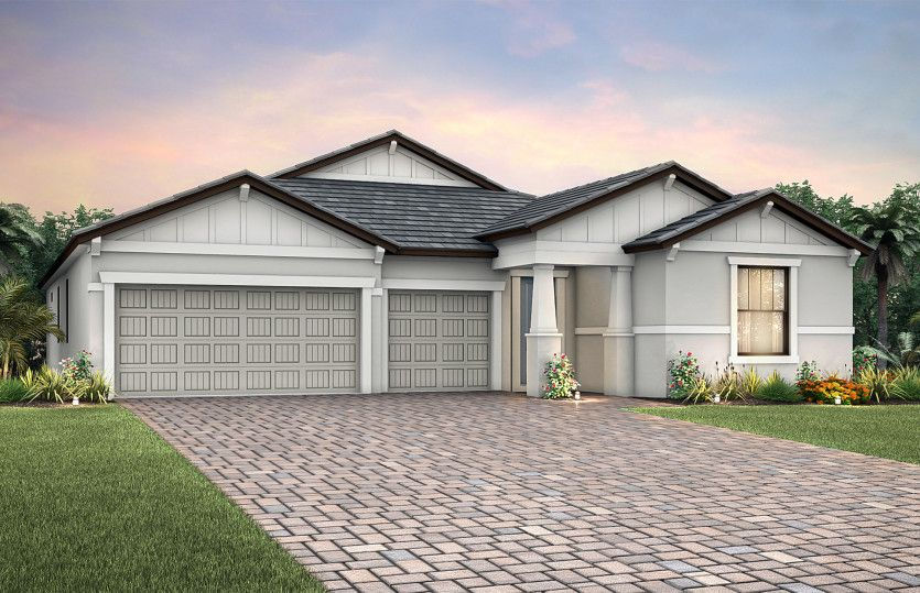 Creekview:Elevation C2A with tile roof