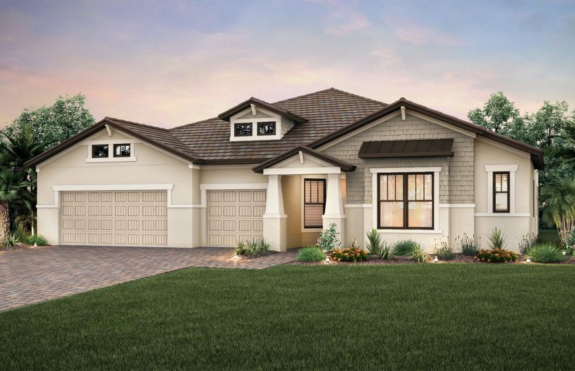 Nobility:Elevation C2A with tile roof