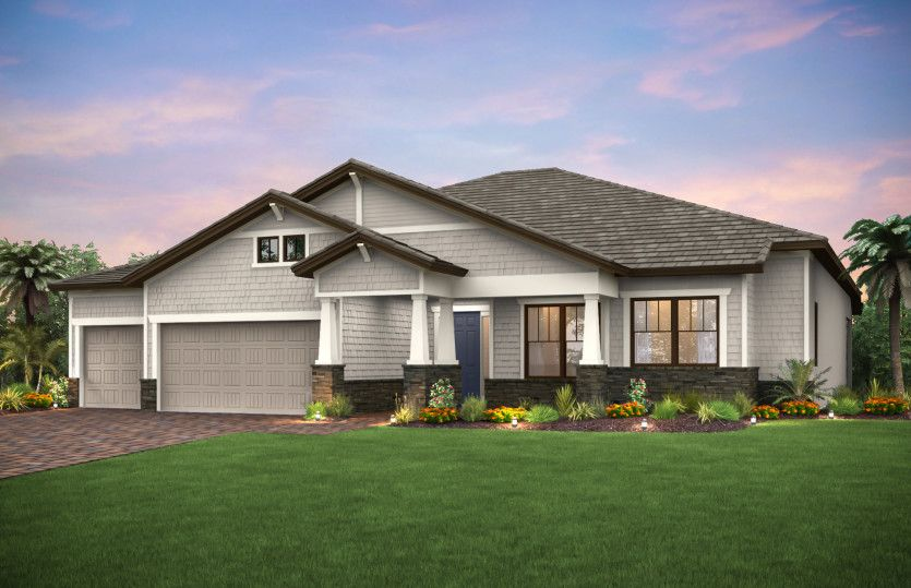 Clubview:Elevation C3A with front porch