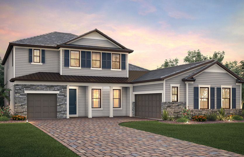 Empire:Exterior LC2B with shutters and stone detail