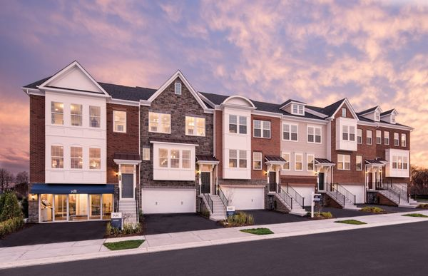 Parsons:Stately Townhome Exteriors with Brick, Stone and Siding