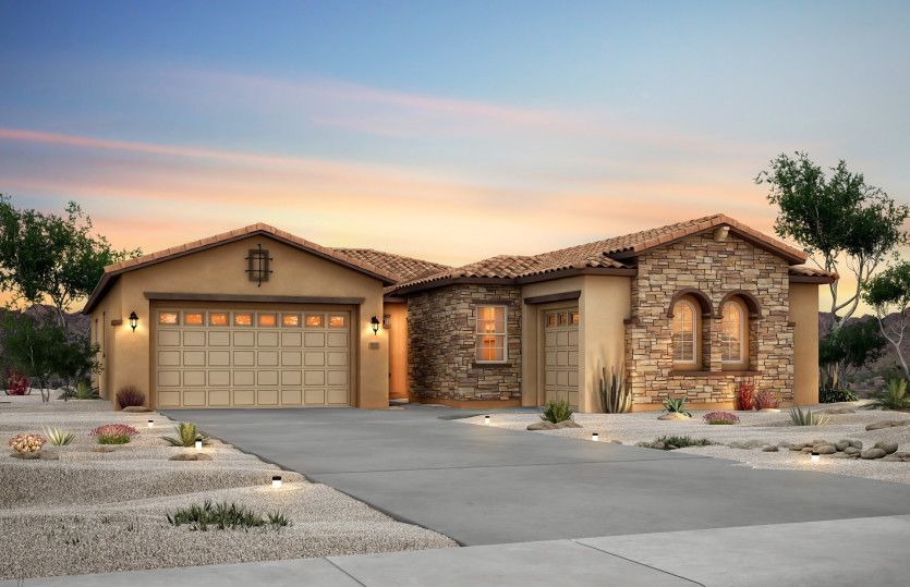 Catalina:This enhanced exterior design features stone accents around the garage and more for the ultimate cur