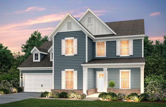 Northridge:Northridge Exterior LC2G w/siding, brick, front sitting porch and 2 car garage