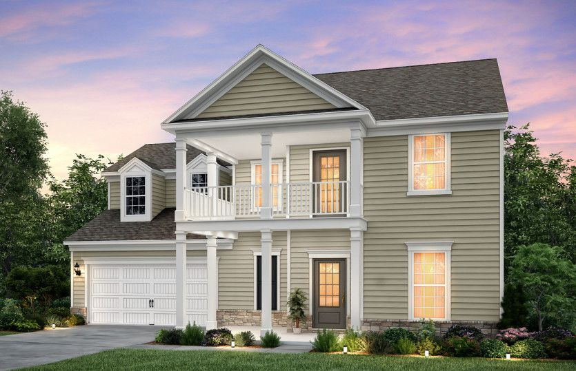 Waterstone:Waterstone, a two story home w/double front porch with Home Exterior 4