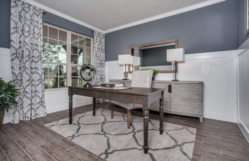 Kennedale:Flexible living space shown as optional study with french door entry, perfect as the home office or