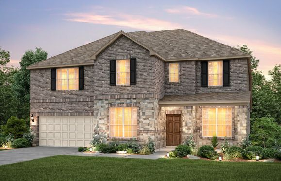 Weston:The Weston, a two-story plan shown as Exterior C