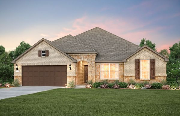 Northlake:The Northlake, a one-story home with 2-car garage, shown with Home Exterior D