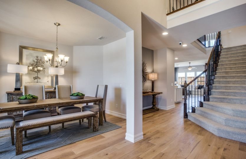 Lawson:Formal dining and view of staircase at entry