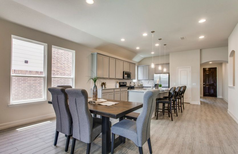 Sheldon:The intimate dining space offers access to both the kitchen and gathering room
