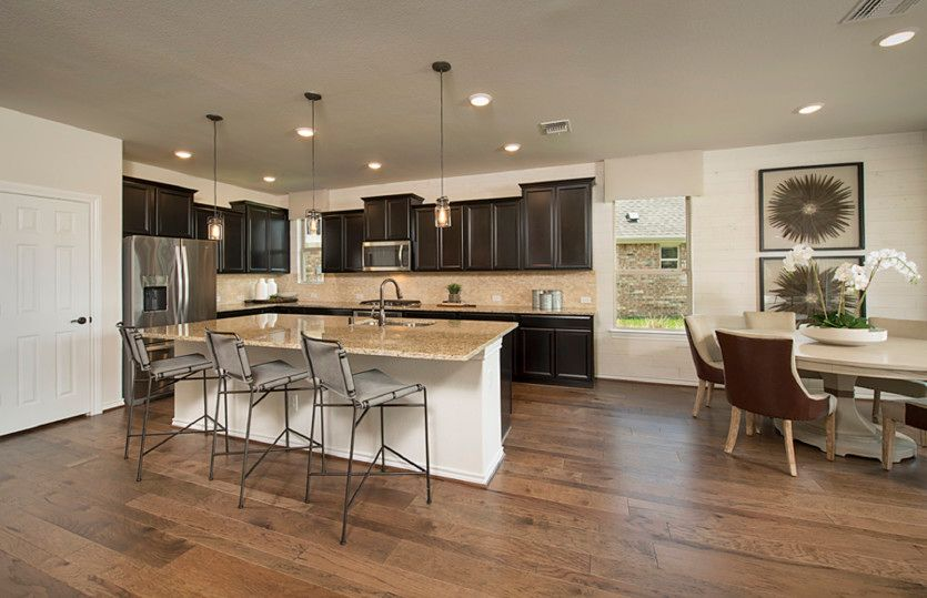 Caldwell:Open kitchen with your choice of granite or quartz countertops