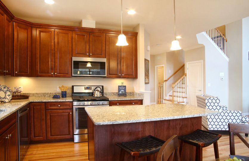 Interior:Large Eat-In Kitchen with Island