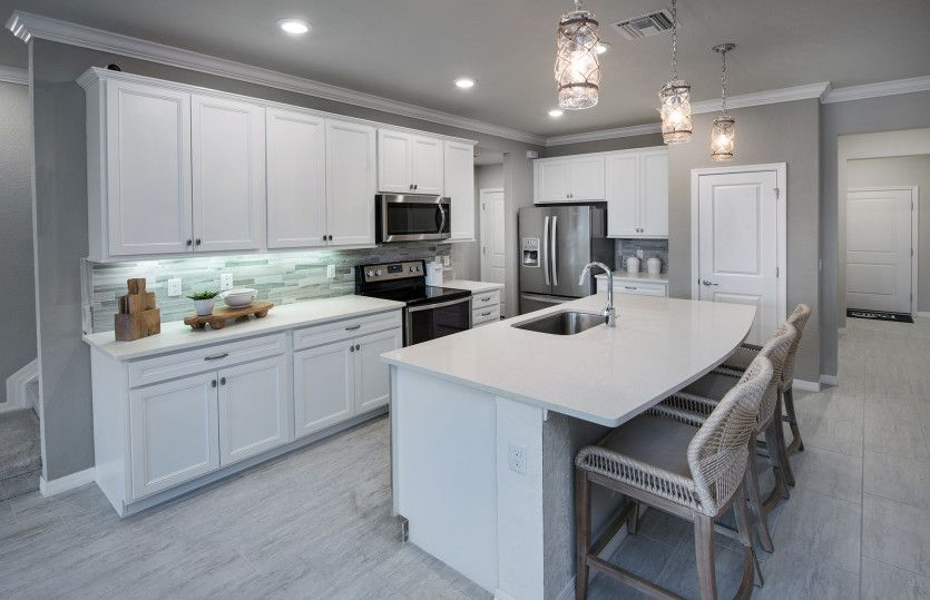 Seacrest:Stylish kitchen provides a central hub for the home