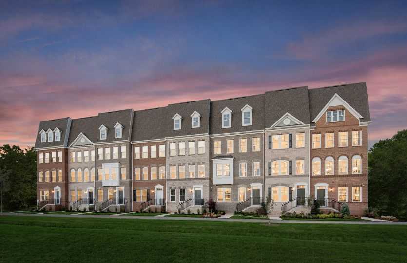 Exterior:Model Representation - Germantown's New Luxury Townhomes