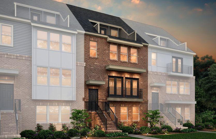 Exterior:Dickenson Exterior 44 features Brick, Balcony and Terrace