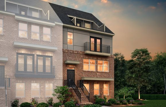 Exterior:Dickenson Exterior 42 features Brick, Hardi Board, Balcony and Terrace