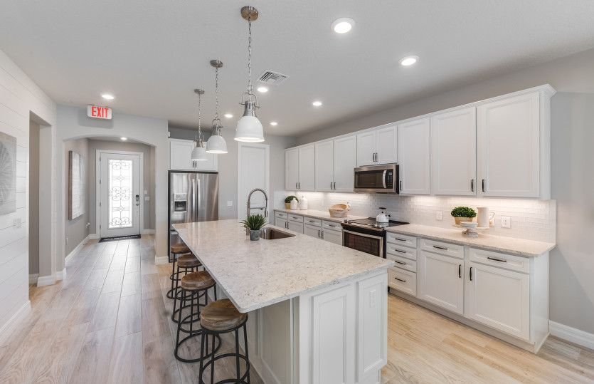 Fox Hollow:The Fox Hollow offers a large kitchen with center island.