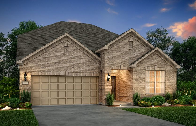 Exterior:The Keller, a two-story home with 2-car garage, shown with Home Exterior 33