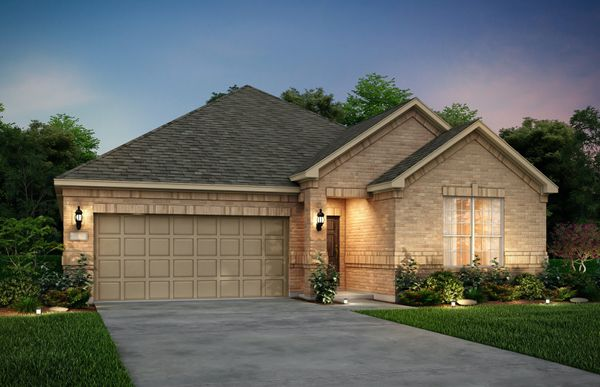 Exterior:The Orchard, a one-story home with 2-car garage, shown with Home Exterior 31